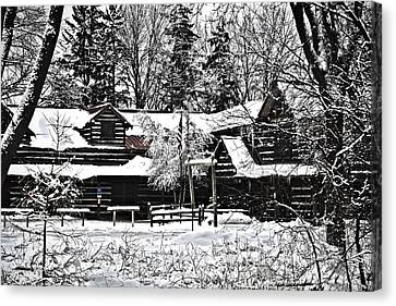 Canvas Print featuring the photograph Cabin In The Woods by Deborah Klubertanz