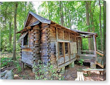 Canvas Print featuring the photograph Cabin In The Woods by Gordon Elwell