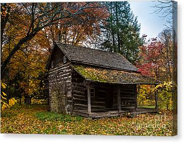 Cabin In The Woods Canvas Print by Jim McCain