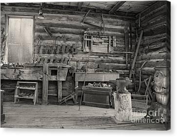 Rustic Cabin Interior Canvas Print by Juli Scalzi