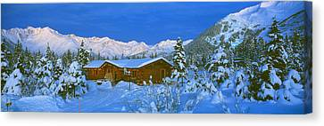 Cabin Mount Alyeska, Alaska, Usa Canvas Print