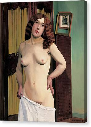Cabinet Chest Canvas Print by Felix Edouard Vallotton