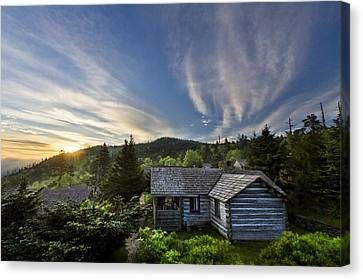 Cabins At Dawn Canvas Print