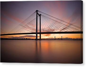 Canvas Print featuring the photograph Cable Bridge by Ronda Kimbrow