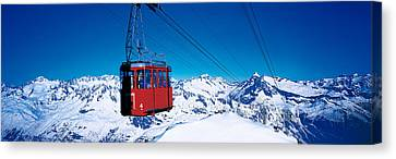 Cable Car Andermatt Switzerland Canvas Print by Panoramic Images