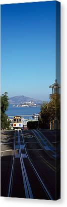 Cable Car On Tracks, Alcatraz Island Canvas Print by Panoramic Images