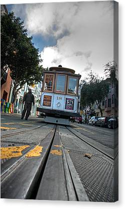 Cable Car Canvas Print by Peter Tellone