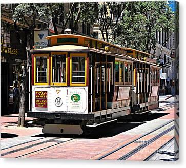 Cable Car - San Francisco Canvas Print