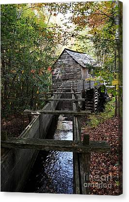Grist Mill Canvas Print - Cable Grist Mill 3 by Mel Steinhauer