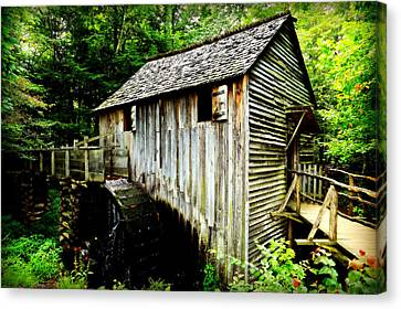 Grist Mill Canvas Print - Cable Mill - Cades Cove by Stephen Stookey