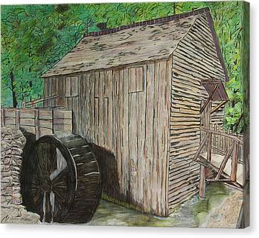 Cable Mill In Cade's Cove Canvas Print by David Cardwell