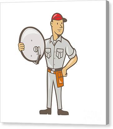 Cable Tv Installer Guy Standing Digital Art by Aloysius Patrimonio
