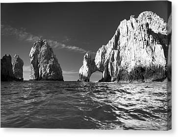 Cabo In Black And White Canvas Print by Sebastian Musial