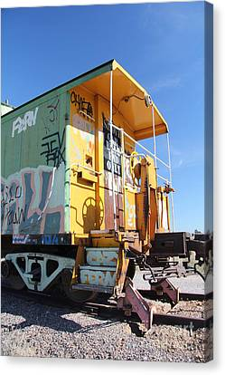 Caboose Canvas Print by Diane Greco-Lesser