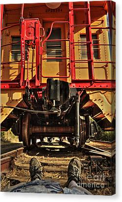 Caboose On The Loose Canvas Print by James Eddy