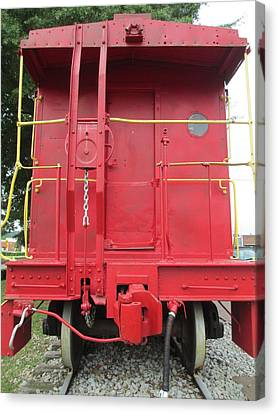 Caboose Canvas Print by Randall Weidner