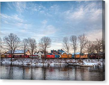 Canvas Print featuring the photograph Cabooses by Robert Clifford