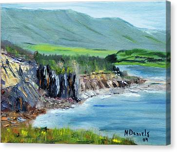 Cabot Trail Coastline Canvas Print by Michael Daniels