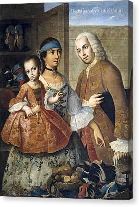Cabrera, Miguel 1695-1768. De Espa�ol Y Canvas Print by Everett