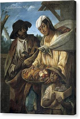 Cabrera, Miguel 1695-1768. De Lobo Y De Canvas Print by Everett