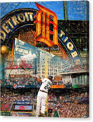 Cabrera Wall Of Awesome Canvas Print by John Farr