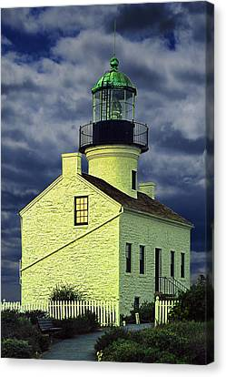 Cabrillo National Monument Lighthouse No 1 Canvas Print by Randall Nyhof