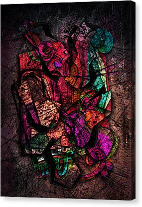 Cacophony In Z Minor Canvas Print by Gary Bodnar