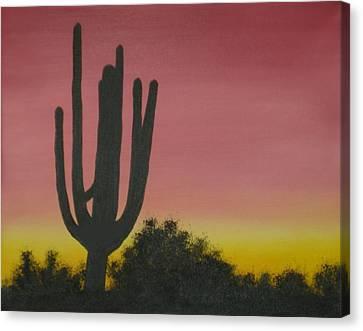 Cactus At Dawn Canvas Print by Aaron Thomas