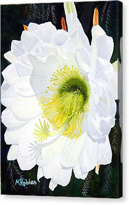 Cactus Flower II Canvas Print by Mike Robles