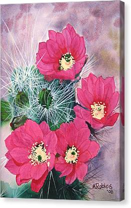 Cactus Flowers I Canvas Print by Mike Robles