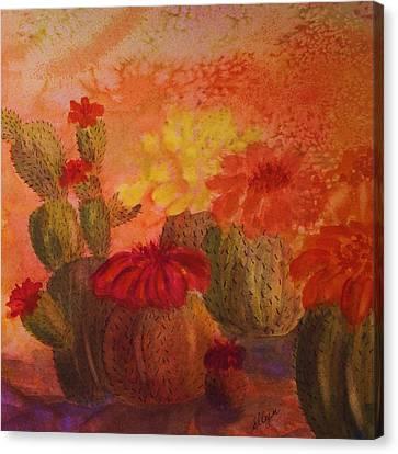 Cactus Garden - Square Format Canvas Print