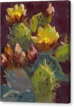 Cactus In Bloom 1 Canvas Print