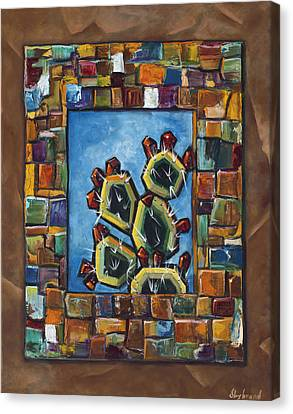 Cactus Mosaic Canvas Print by Judy Lybrand