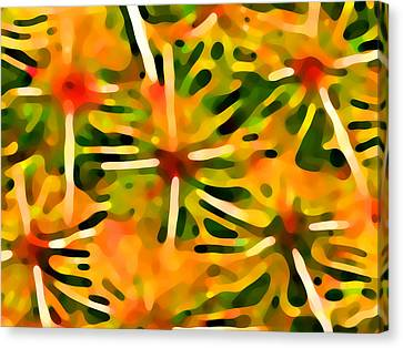 Cactus Pattern 3 Yellow Canvas Print by Amy Vangsgard