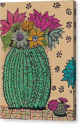 Cactus  Canvas Print by Rosalina Bojadschijew