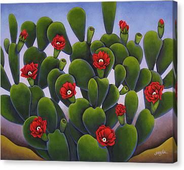Cactus Roses Canvas Print