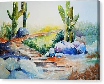 Cactus Trail Canvas Print