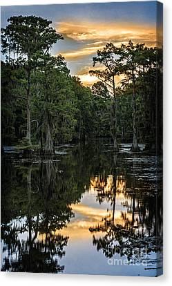 Sunset On Caddo Lake II Canvas Print