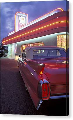 Caddy At Diner Canvas Print by Christian Heeb