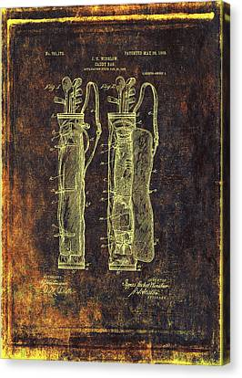 Caddy Bag Patent Drawing - 1905 Canvas Print
