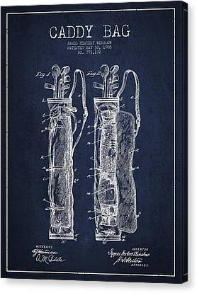 Match Canvas Print - Caddy Bag Patent Drawing From 1905 by Aged Pixel