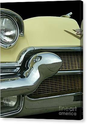 Canvas Print featuring the photograph Caddy Classic Yellow-1 by Cheryl Del Toro