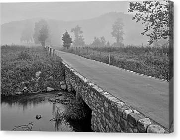 Cades Cove Black And White Canvas Print by Frozen in Time Fine Art Photography