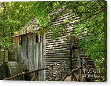 Cades Cove Grist Mill Canvas Print by Adam Jewell