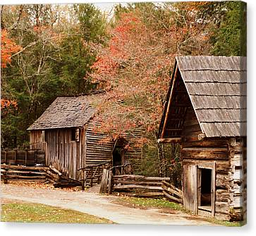 Cades Cove Grist Mill Canvas Print by TnBackroadsPhotos