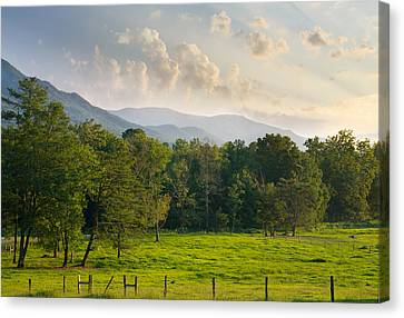 Cades Cove Canvas Print by Melinda Fawver