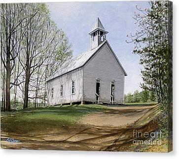 Cades Cove Methodist Church Canvas Print by Bob  George