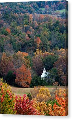 Canvas Print featuring the photograph Cades Cove Methodist  Church by Tyson and Kathy Smith