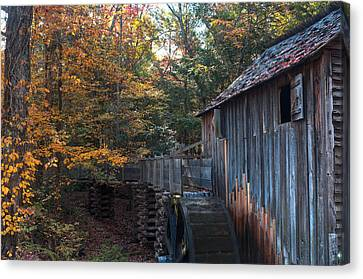 Cades Cove Mill Canvas Print by Steve Gadomski