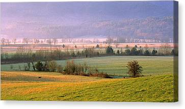 Canvas Print featuring the photograph Cades Cove Morning by Wendell Thompson